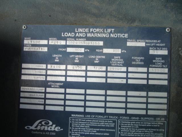 SMV/Linde 25T Forklift