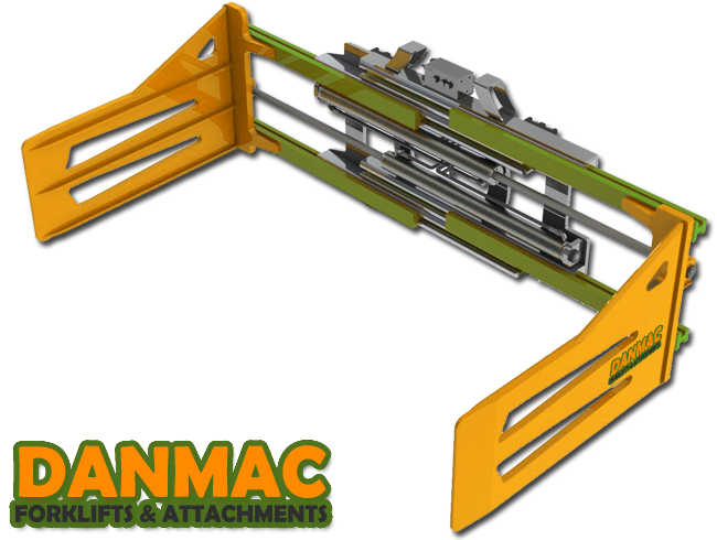 DanMac Forklift Attachment Cotton Bale Clamp in various sizes