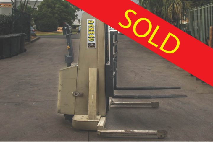 SOLD – Crown 1 Tonne (1000kg) Electric Walk Behind Forklift