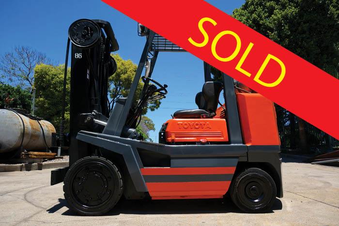 SOLD – Toyota 3.5 Tonne (3500kg) LPG Counter Balanced Forklift