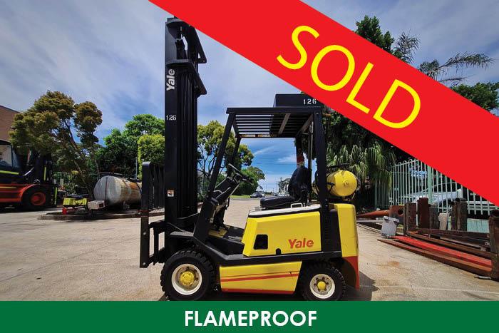 SOLD – Yale 1.5 Tonne (1500kg) Diesel Flameproof Forklift