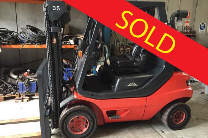 SOLD – Linde 2.5 Tonne LPG Counter Balanced Forklift