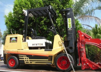 Hyster 5.5 Tonne (5500kg) LPG Counter Balanced Container Mast Forklift
