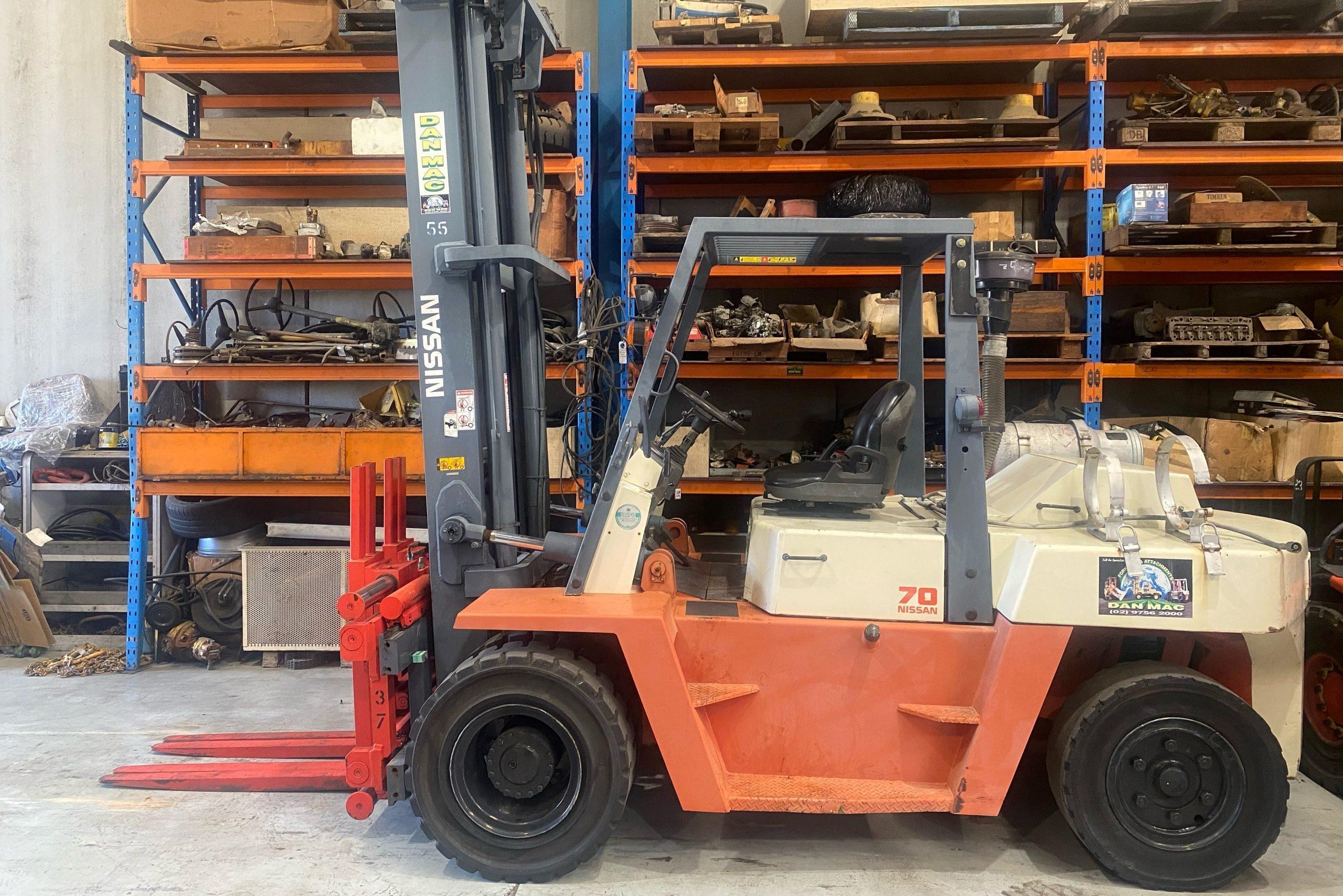 Nissan 7 Tonne Dual LPG Counter Balanced Forklift
