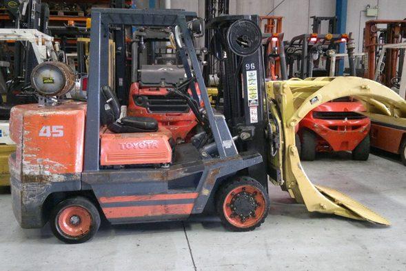 Toyota 4.5 Tonne (4500kg) LPG Counter Balanced Forklift