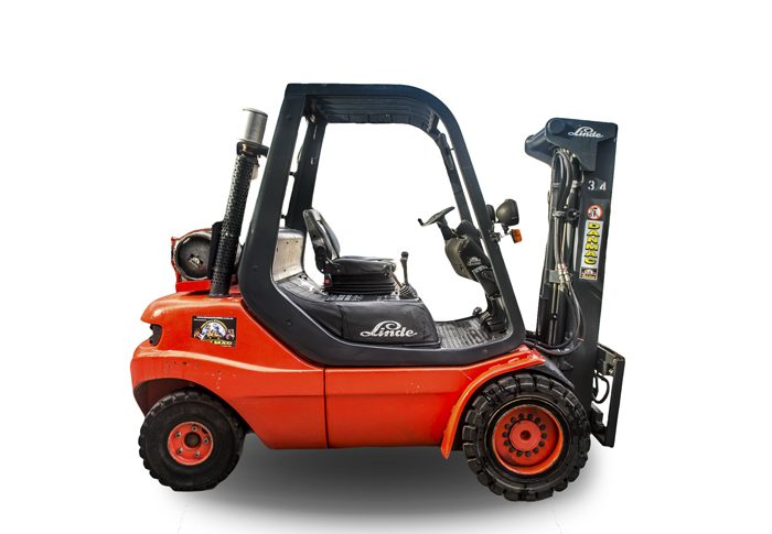 forklifts for hire Linde 3.5 tonne LPG container mast counter balanced 34 1