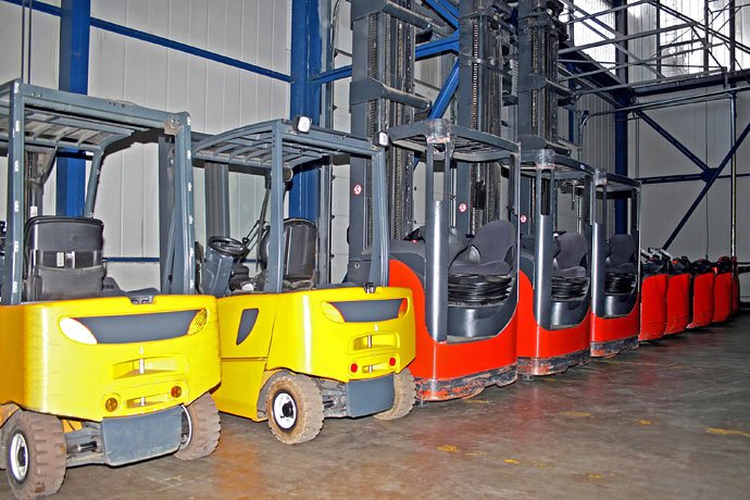 Common types of forklifts