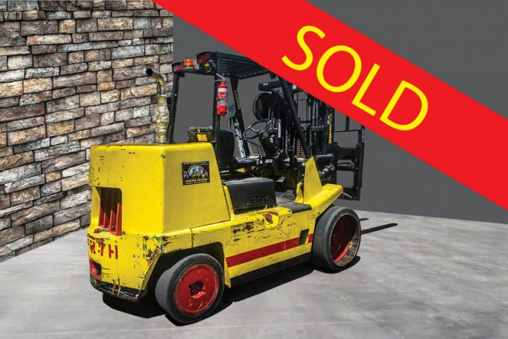 SOLD – Hyster 7 Tonne (7000kg) Diesel Counter Balanced Container Mast Forklift